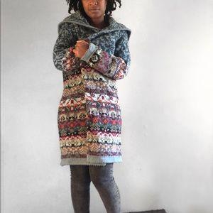 Sundance Lambswool Long Duster Sweater M